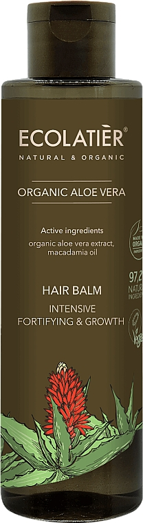 """Balsam de păr """"Consolidare și Creștere intensivă"""" - Ecolatier Organic Aloe Vera Hair Balm"""