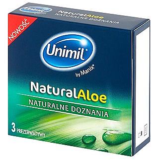 Prezervative, 3 bucăți - Unimil Natural Aloe — Imagine N1