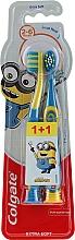 """Parfumuri și produse cosmetice Periuțe de dinți """"Smiles"""", 2-6 ani, galbenă-albastră, extra moi - Colgate Smiles Kids Extra Soft"""