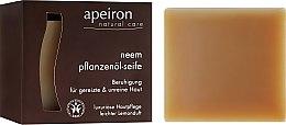 Parfumuri și produse cosmetice Săpun natural pentru pielea problematică - Apeiron Neem Plant Oil Soap