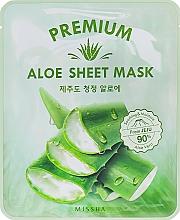 Parfumuri și produse cosmetice Mască calmantă cu extract de aloe pentru față - Missha Premium Aloe Sheet Mask