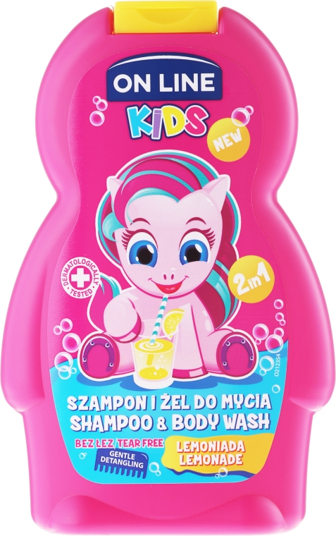 "Șampon-gel de duș ""Lemonade"" - On Line Kids Lemonade Shampoo & Body Wash"