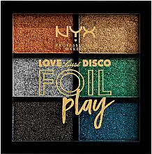 Parfumuri și produse cosmetice Paletă de farduri de ochi - NYX Professional Makeup Love Lust Disco Foil Play Pigment Palette