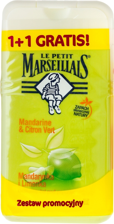 "Set ""Mandarin și lime"" - Le Petit Marseillais (sh/gel/250ml + sh/gel/250ml)"