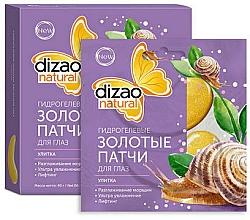 """Parfumuri și produse cosmetice Patch-uri hidrogel cu aur """"Melc"""" - Dizao"""