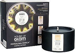 Parfumuri și produse cosmetice Lumânare aromată - House of Glam Black Opium Candle