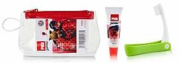 Parfumuri și produse cosmetice Set - PHB Junior Ladybug Strawberry Travel Kit (toothbrush+toothpaste/15ml+bag)