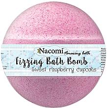 Parfumuri și produse cosmetice Bile efervescente cu aromă de zmeură - Nacomi Sweet Raspberry Cupcake Bath Bomb