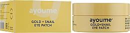 Parfumuri și produse cosmetice Patch-uri cu mucină de aur și melc - Ayoume Gold + Snail Eye Patch
