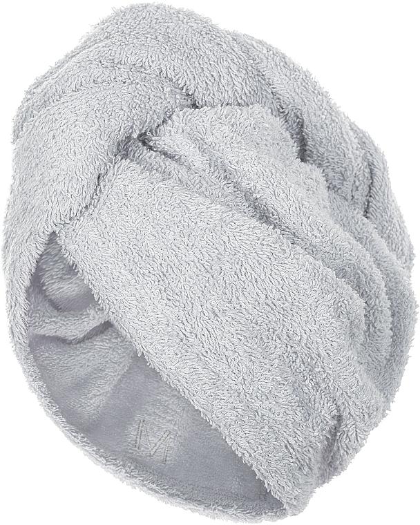 Prosop-turban pentru uscarea părului, gri - MakeUp