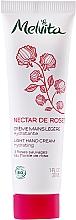 Parfumuri și produse cosmetice Cremă de mâini cu textură ușoară - Melvita Nectar De Rose Light Hand Cream