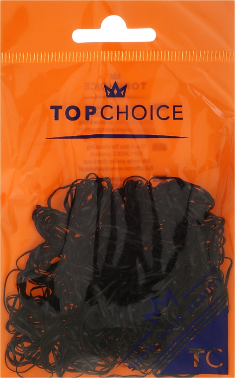 Elastice de păr, 22722, negre - Top Choice