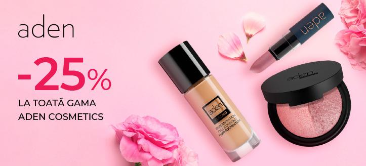 Promoție de la Aden Cosmetics