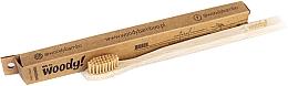 Parfumuri și produse cosmetice Periuță de dinți din bambus, medie, peri maro - WoodyBamboo Bamboo Toothbrush Natural