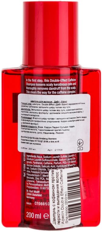 Șampon cu cofeină împotriva matreții și căderea părului - Alpecin Double Effect Caffeine Shampoo — Imagine N2