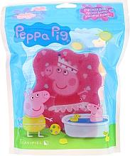 """Parfumuri și produse cosmetice Burete de baie """"Peppa Pig"""", balerină, roz-albastră - Suavipiel Bath Sponge"""