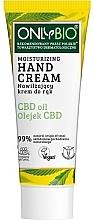 Parfumuri și produse cosmetice Cremă hidratantă de mâini - Only Bio Only Eco CBD Oil