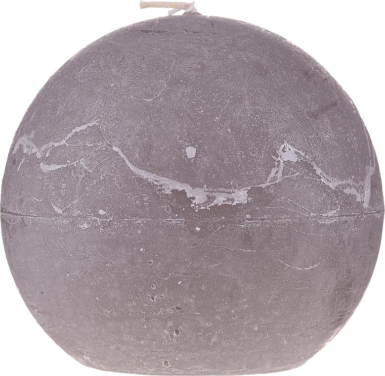 Lumânare naturală, bilă, 12 cm, gri - Ringa Grey Candle — Imagine N1