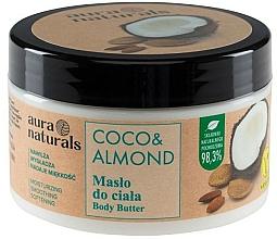 """Parfumuri și produse cosmetice Unt pentru corp """"Cocos și Migdale"""" - Aura Naturals Coco & Almond Body Butter"""