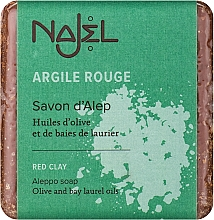 """Parfumuri și produse cosmetice Săpun de Alep """"Argilă Roșie"""" - Najel Aleppo Soap with Red Clay"""