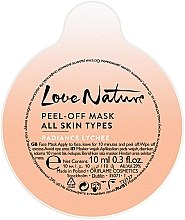 """Parfumuri și produse cosmetice Mască de față """"Liche"""" - Oriflame Love Nature Radiance Lychee Peel-off Mask (Mostră)"""