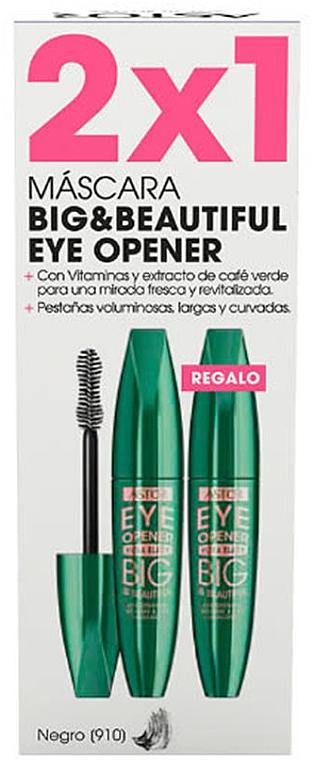 Set - Astor Big & Beautiful Eye Opener Set (mascara/2x12ml) (910 -Black) — Imagine N1