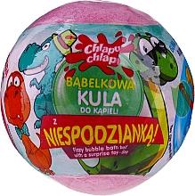 """Parfumuri și produse cosmetice Bombă efervescentă de baie """"Dino"""", cu surpriză, roz - Chlapu Chlap"""