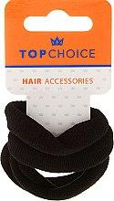 Parfumuri și produse cosmetice Elastice de păr 4 buc., negre - Top Choice