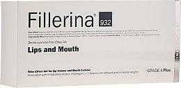 Parfumuri și produse cosmetice Gel pentru volumul buzelor și îmbunătățirea conturul, nivelul 4 - Fillerina Lips And Mouth Grade 4 Plus
