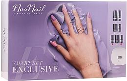 Parfumuri și produse cosmetice Set pentru manichiură - NeoNail Smart Set Exclusive (led/lamp + base/7.2ml + top/7.2ml + nail/polish/5x3ml + nail/cleaner/50ml + remover/50ml + n/swab + nail/file/2pcs)
