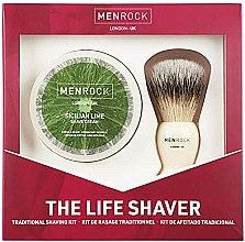 Parfumuri și produse cosmetice Set - Men Rock The Life Shaver Sicilian Lime Kit (brush/1pcs + sh/cr/100ml)