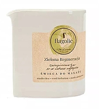 "Parfumuri și produse cosmetice Lumânare pentru masaj ""Revitalizing green"" - Flagolie Green Regeneration Massage Candle"