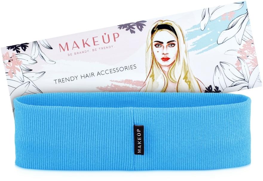 """Bandă elastică pentru păr, """"Be Beauty"""", albastră - MakeUp"""