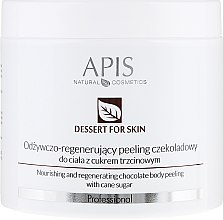 Parfumuri și produse cosmetice Peeling pentru corp - APIS Professional Dessert For Skin Nourishing And Regenerating Chocolate Body Peeling