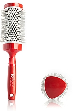 Parfumuri și produse cosmetice Thermobrushing 43 mm - Upgrade Triangular Concave Thermal Brush Red Angle