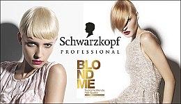 Cremă iluminatoare pentru păr cărunt - Schwarzkopf Professional BlondMe White Blending — Imagine N4