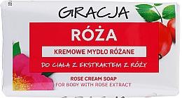 Parfumuri și produse cosmetice Săpun cu extract de trandafir - Gracja Rose Cream Soap With Rose Extract