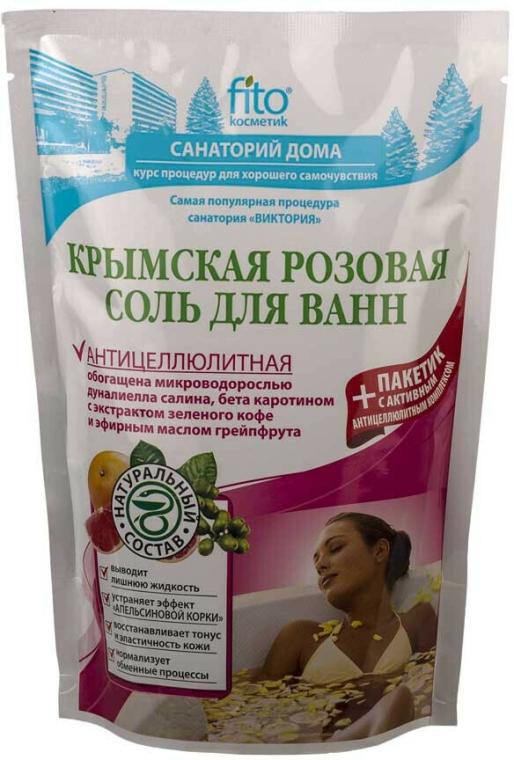 """Sare de baie """"Roz de Crimeea"""", anticelulitică - FitoKosmetik"""