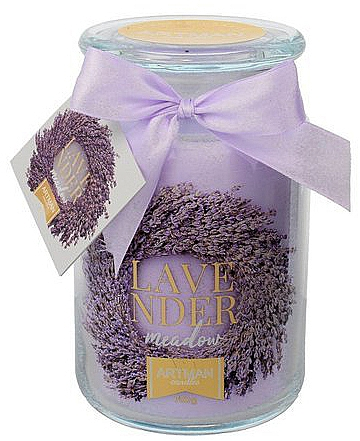 Lumânare aromatică, 10x16 cm., 700g. - Artman Lavender Meadow — Imagine N1