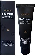 Parfumuri și produse cosmetice Gel pe bază de mucină melc pentru piele sensibilă - Ayoume Black Snail Prestige Soothing Gel