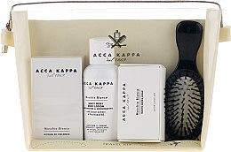 Parfumuri și produse cosmetice Set - Acca Kappa (edp/30ml + b/lotion/100ml + soap/50g + hairbrush)