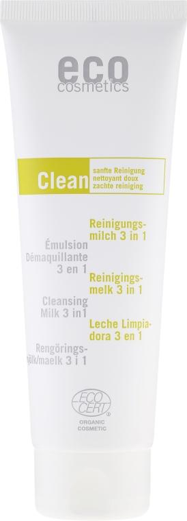 Lăptișor de curățare 3 în 1, ceai verde și mirt - Eco Cosmetics — Imagine N2
