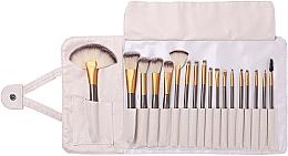 Parfumuri și produse cosmetice Set pensule pentru machiaj, 18 bucăți - Lewer