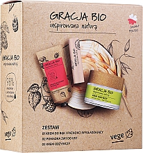 Parfumuri și produse cosmetice Set - Gracja Bio Inspired Nature (h/cr/50ml + f/cr/50ml + lip/balm/5g)