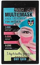 Parfumuri și produse cosmetice Mască pentru ten uscat - Beauty Formulas 3-Step Multi-Mask Face Treatment For Dry Skin