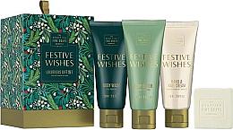 Parfumuri și produse cosmetice Set - Scottish Fine Soaps Festive Wishes Luxurious Gift Set (sh/gel/75ml + b/cr/75ml + hand/nailcr/75ml + soap/40g)