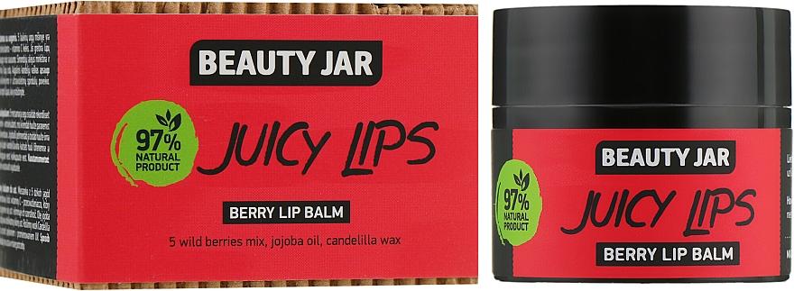"Balsam de buze, cu extract de fructe de pădure ""Juicy Lips"" - Beauty Jar Berry Lip Balm"