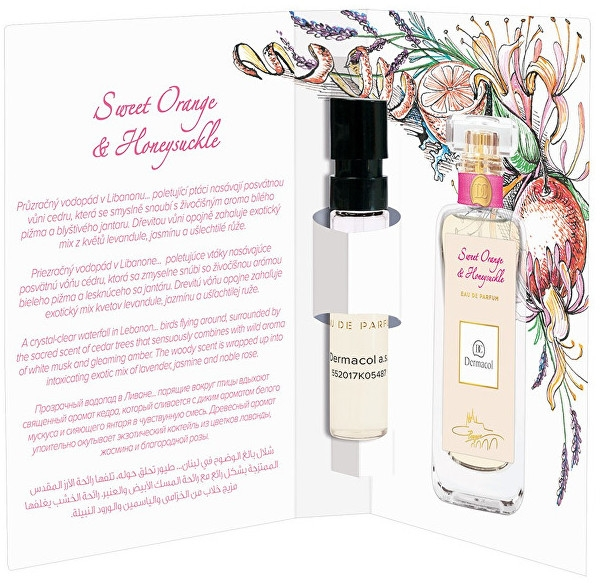 Dermacol Sweet Orange & Honeysuckle - Apă de parfum (mostră) — Imagine N1