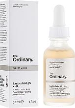 Parfumuri și produse cosmetice Ser peeling cu acid lactic - The Ordinary Lactic Acid 5% + HA 2%