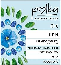 """Parfumuri și produse cosmetice Cremă cu extract de in pentru față """"Regenerare și Elasticitate"""" - Polka Face Cream"""